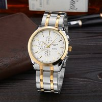 analog multi - Men Fashion Business Pointer Steel band Quartz Movement Badace Dial Multi Color Water Proof Sports Watch