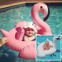 baby swimming games - Baby Swan Inflatable Flamingo Float Swim Ring Flotador Swimming Ring Water Sports Toys Outdoor Kids Baby Infant Water Toys Water Games