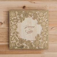 Wholesale Sale Wedding Invitation Card - Hot Sale ! Latest Design Wedding Invitations Hollow Invitation Card Laser Cut Flowers Cheap High Quality 2016 For Formal Occasion Party
