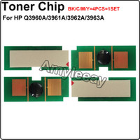 laser printer toner cartridge - Q3960A Q3961A Q3962A Q3963A Toner chip for HP Color LaserJet laser printer toner cartridge chip