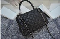 Wholesale Hight Quality designer sheepskin luxury shoulder bags genuine leather double flap grid women s famous brnad handbags