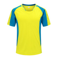 Wholesale 2016 Summber Yellow Color Breathable T Shirt Fashional Casual Cotton Shirt A11337