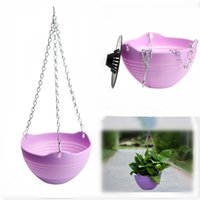 Wholesale Flexible Chain Plastic Planter Basket Garden Home Decoration Hanging Flower Pot Indoor Outdoor Planters Hanging Decorative Pot Piece
