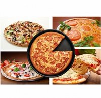 Wholesale inch Black Round Coating Pizza Plate Aluminum Alloy Non stick Pizza Plate safe and healthy