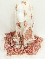arab scarf sale - 2016 Women Geometric Pattern Scarf With Flowers Fashion Lady Printed Shawl Muslim Head Scarfs Arab Hijab Wrap Hot Sale Scarves FS6777