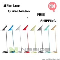 Wholesale LP252 hot sales Arne Jacobsen AJ Floor Lamp red blue green and coffee all color lamp bedroom E27 LED Lighting Designer lighting