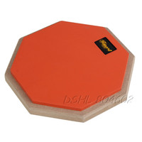 Wholesale Dumb Drum Soft Rubber Double Side Practise Pad Orange and Black Inches