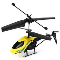 WJ02JYFJRE airplane yellow - Mini CH Remote Control Helicopter with LED Light GH radio RC Airplane Toys for Child Kids