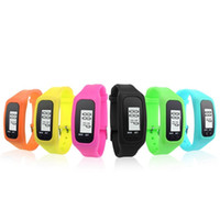 acrylic display counter - 2016 Superior Digital LCD Pedometer LED Sport Watch Run Step Walking Distance Calorie Counter Wrist Watch Bracelet