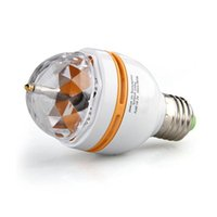 Wholesale Voice activated Crystal Rotating RGB LED Party Disco Stage Light Bulb