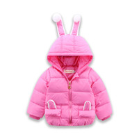 Wholesale Girls Of New Fund Of Autumn Winters Down Jacket Cute Little Rabbit Character Of Children s Wear A Coat