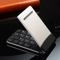 Wholesale high quality Bluetooth wireless foldable Keyboard Mini Aluminum Foldable Bluetooth Keyboard For iOS Android Windows with high quality