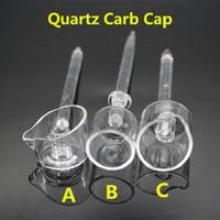 Wholesale 2016 Newest Quartz Carb Caps Dab Rigs Quartz Banger Cap For Domeless Quartz Nails with Long Handles Horizontal Or Vertical DHL FREE