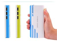 Wholesale 20000mAh Power Banks USB External Battery With LED Portable Power Banks Charger For iPhone s Samsung s6 Android Phones
