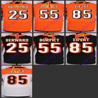 bengals jerseys - NIK Elite Football Stitched Bengals Bernard Vontaze Burfi Tyler Eifert Black Orange White Jerseys Mix Order
