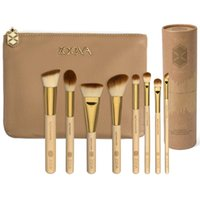 bamboo brush holder - ZOEVA VOL LUXURY SET Makeup Brush With Cosmetics Bag Holder Clutch Bamboo FACE Brush Makeup Kit DHL Free