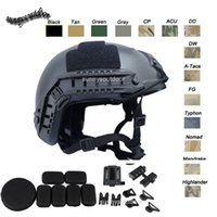 Wholesale Outdoor Equipment Airsoft Paintabll Shooting Helmet Head Protection Gear ABS Simple Version MH Fast Tactical Airsoft Helmet