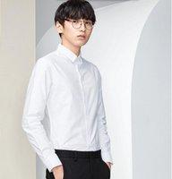 bamboo sunshine - New arrival men shirt good quality groom shirt white sunshine handsome Cultivate one s morality leisure shirt long sleeve