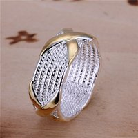 abalone jewelery - 925 silver Fashion jewelery crossing silver ring stars fashion women silver plated rings anel