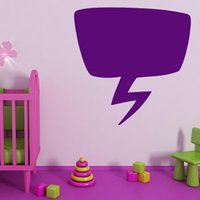 animal speech - Pure Color Speech Bubble Lightening Wall Sticker Kids Bedroom Cute Home Decor PVC Decal Removable