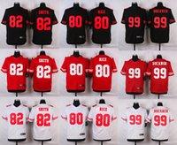 white rice - Best quality jersey Men Torrey Smith Jerry Rice DeForest Buckner elite Stitched jerseys White Red Black football jersey Size M XXXL
