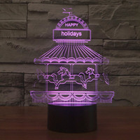 amusement park lights - Children Amusement Park RGB Touch LED Table Lamp Baby Bedroom Colors D Night light Christmas And Valentine s Day Gift