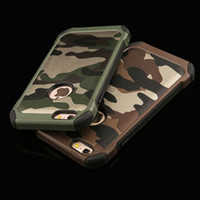 army armor - Army Camo Camouflage Pattern PC TPU in1 Armor Hybird Anti knock Protective Back Cases Covers For iPhone S S Plus Plus