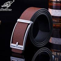antique branding irons - 2016 Brand Luxury designer belts for men belt arrival Men Belts antique Genuine Leather Black Top crocodile buckle top alligator design