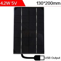 ELEGEEK 4.2W 5V 130 * 200 * 3m m Salida del USB Monocristalino Mini panel solar de resina epoxi Encapsulated Silicon Solar Cell for DIY