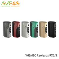 Wholesale Original Wismec Reuleaux RX2 Box Mod Electronic Cigarette RX Upgradeable Firmware RX23 W Mod VS RX200 RX200s iStick TC W