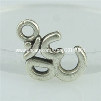 aum ohm - 15156 Alloy Antique Vintage Mini OM Aum Ohm Hindu Yoga Jewelry Pendant