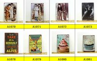 Wholesale Wine Vintage Craft Tin Sign Retro Metal Painting Antique Iron Poster bar pub Signs Wall Art sticker x30CM
