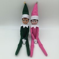 Wholesale EMS DHL Elves Christmas Elves Dolls And Hard Cover Books Toys Xmas Gift For Children Red Pink Green
