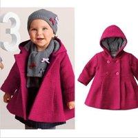 Wholesale Baby coats girls overcoat jacket kids dresses hoodies Christmas coats Loose coat colors good quality