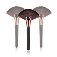 Wholesale Makeup Fan Shape Pro Cosmetic Brush Blending Highlighter Contour Face Powder Pc JC05213