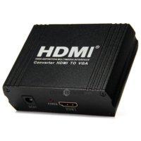 Wholesale HDCVGA02 P HDMI to VGA R L Audio Converter Adapter Box for DVD PS3 PC Projector V