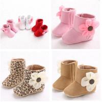 bebe booties - Children Warm Winter Shoes Infant Baby Prewalker Girl Boy Snow Boots Bebe First Walkers Booties