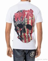Wholesale 2016 NEW polo short style fit slim tshirt casual printed stone D skulls MENS polo tshirt P5619