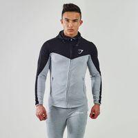 Wholesale Gymshark Hoodies Camisetas Sweaters Men Gym masculina hombre Bodybuilding Fitness Hoodies Sweatshirts Muscle Men s Jacket