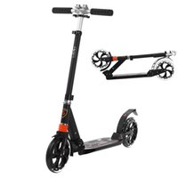 adult kick scooter - 2016 NEW Adult Foldable Kick Scooter Aluminum Alloy Portable Three Adjustable Height Foot Scooters Unique Type Design Black