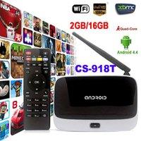 Wholesale WiFi TV Set Top Box XBMC DLNA OTG P Bluetooth Quad Core ARM Cortex A7 Rockchip RK3128t CS T G G Android TV Box