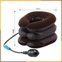 air devices - High Quality Air Cervical Neck Traction Soft Brace Device Unit for Headache Head Back Shoulder Neck Pain Health Care by DHl free