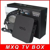 Wholesale Android MXQ TV Box Amlogic S805 S905 Quad Core Cortex A5 Mali Quad Core H H KODI Pre installed MXQ Pro TV BOX