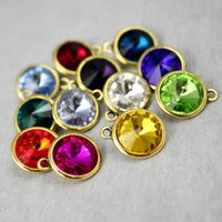 Wholesale Alex and Ani Mixed Birthstone Gemstone Charms For Diy Personalized Necklace and Bracelet Fashion Accessories Gold Plated Gifts Dubai