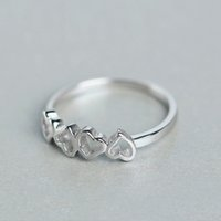african ladies wear - high end sterling silver finger ring Korean fashion love heart special ring lovers Valentine s Day gift Ladies Girls Daily Wear jewelry