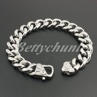 amazing clay - New Men s Cool Bracelet Silver L Stainless Steel Fashion Curb Cuban Chain Amazing Popular Gift quot