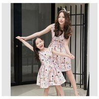 autumn vacations - 2016 mother and daughter dress summer vacation dresses family beach dress formal party mother and daughter maching clothes