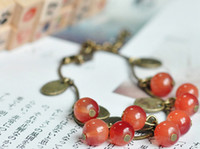 beautiful lobster - Restore ancient ways small sweet cherry beautiful beaded bracelet