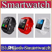 Wholesale 50X Bluetooth Smartwatch U8 Watch Smart Watch Wrist Watches for Samsung S4 S5 S6 S7 Note Note Note Android Phone HTC Smartphones A BS