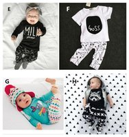baby boy - INS Baby Outfits Sets Cotton Piece Set Boys Girls Baby Clothing Suits Clothes